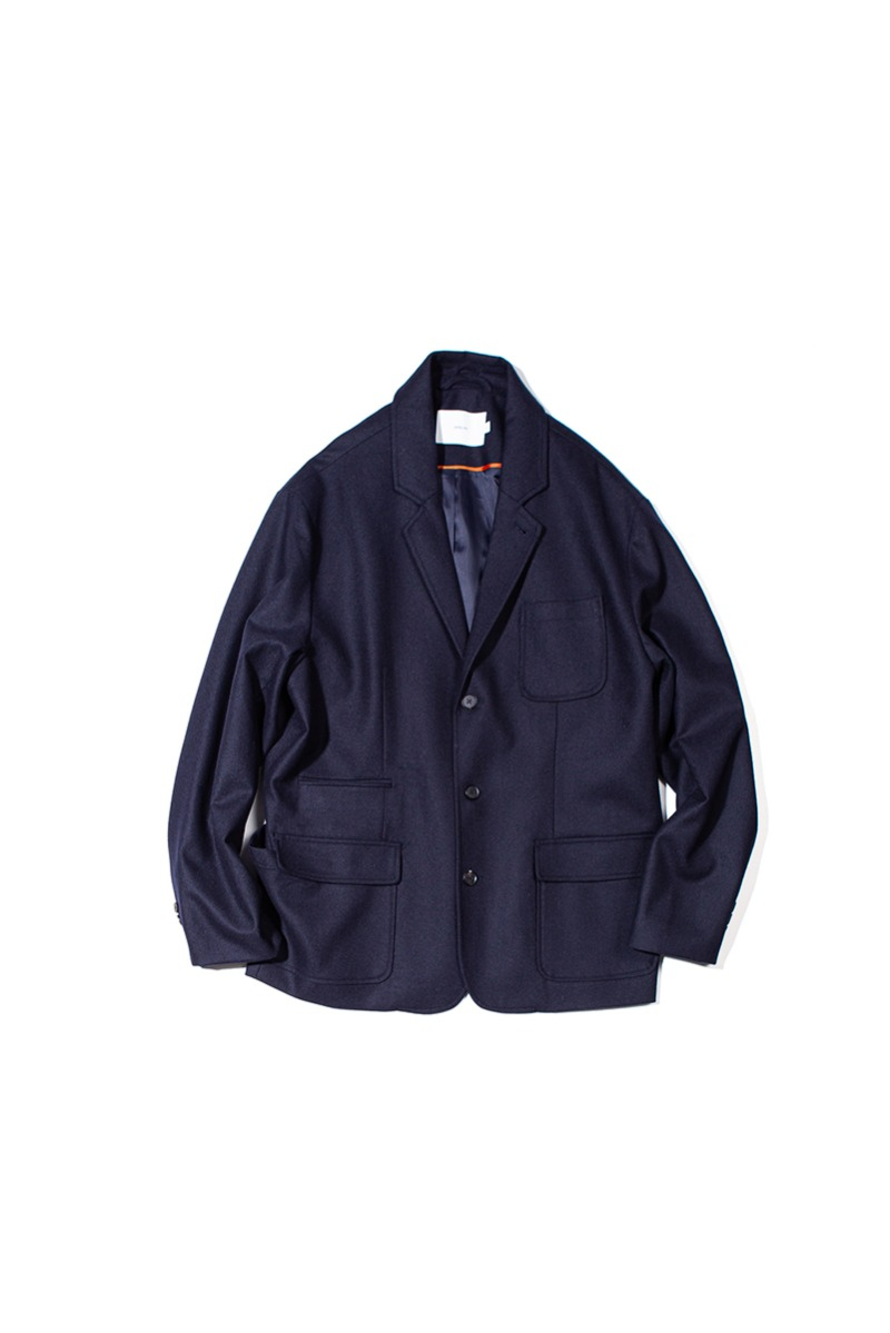 FINE WOOL SLUMBER JACKET (Dark navy)