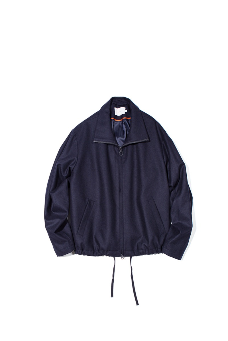 FINE WOOL RELAXED BLOUSON (Dark navy)