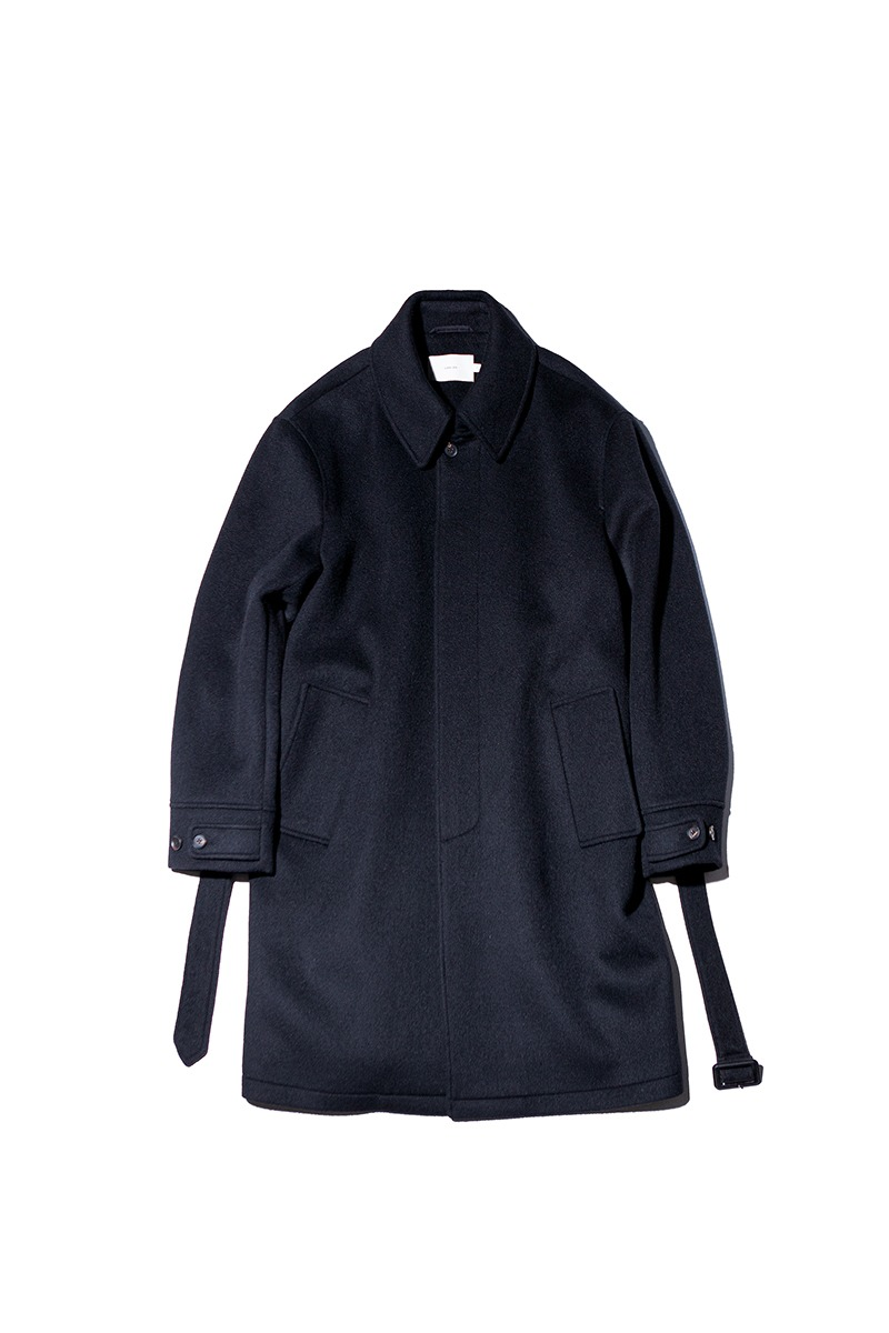 SOFT WOOL BELTED MAC COAT (Real black)