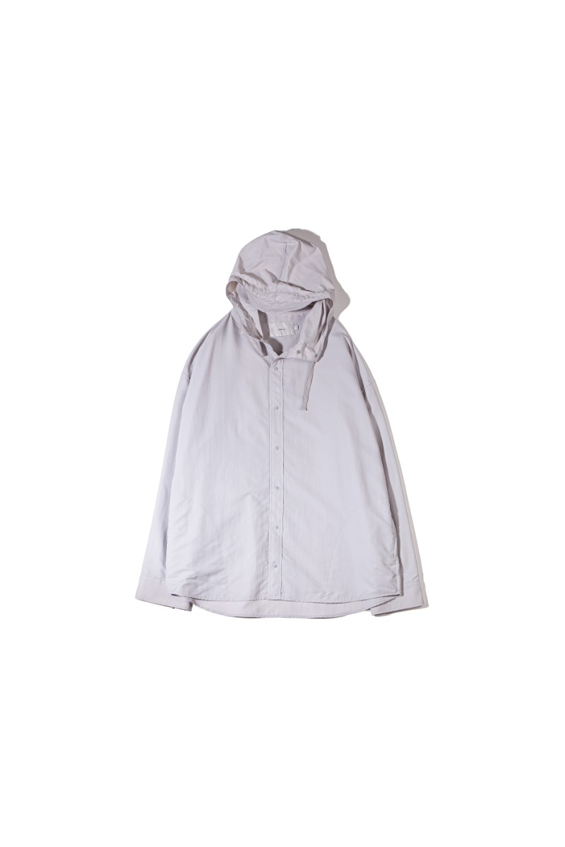 NYLON DYED COMFORT SHACKET (light grey)