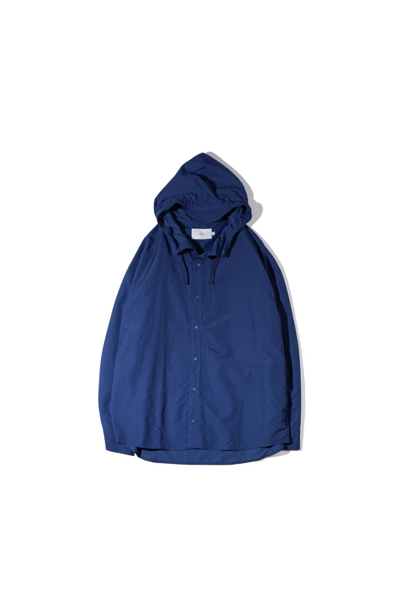 NYLON DYED COMFORT SHACKET (indigo)