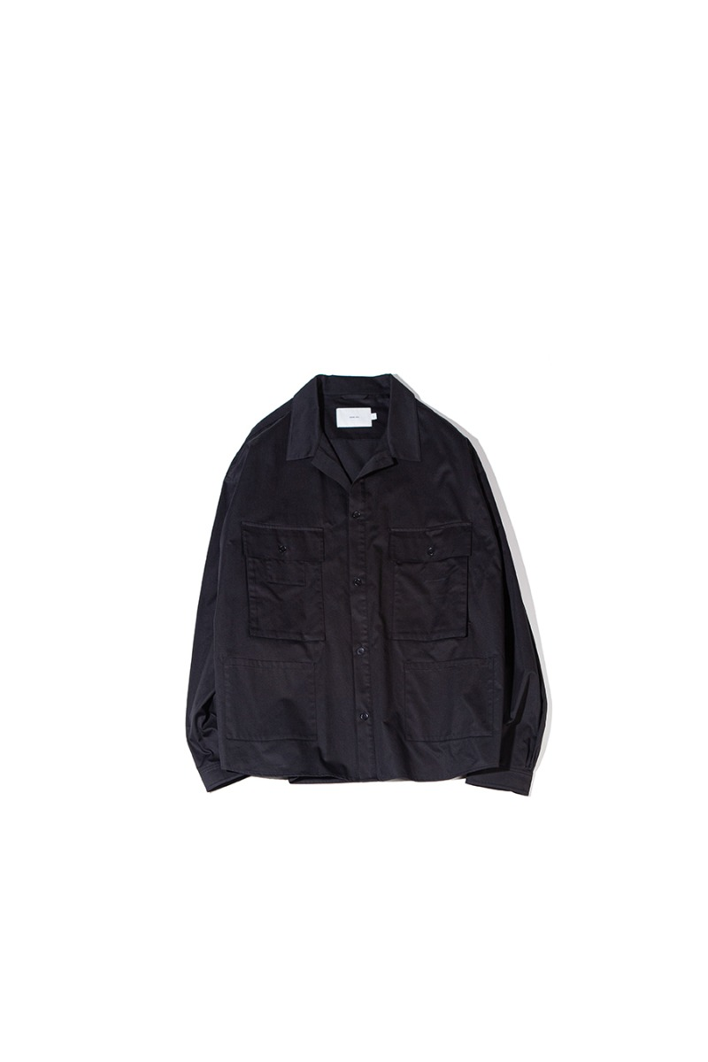 SATIN COTTON B.D.U SHACKET (black)