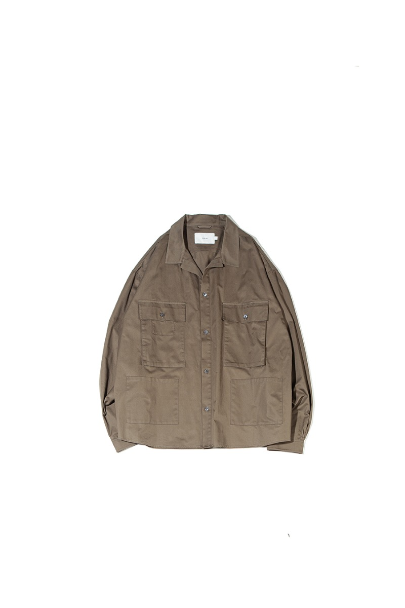 SATIN COTTON B.D.U SHACKET (olive)