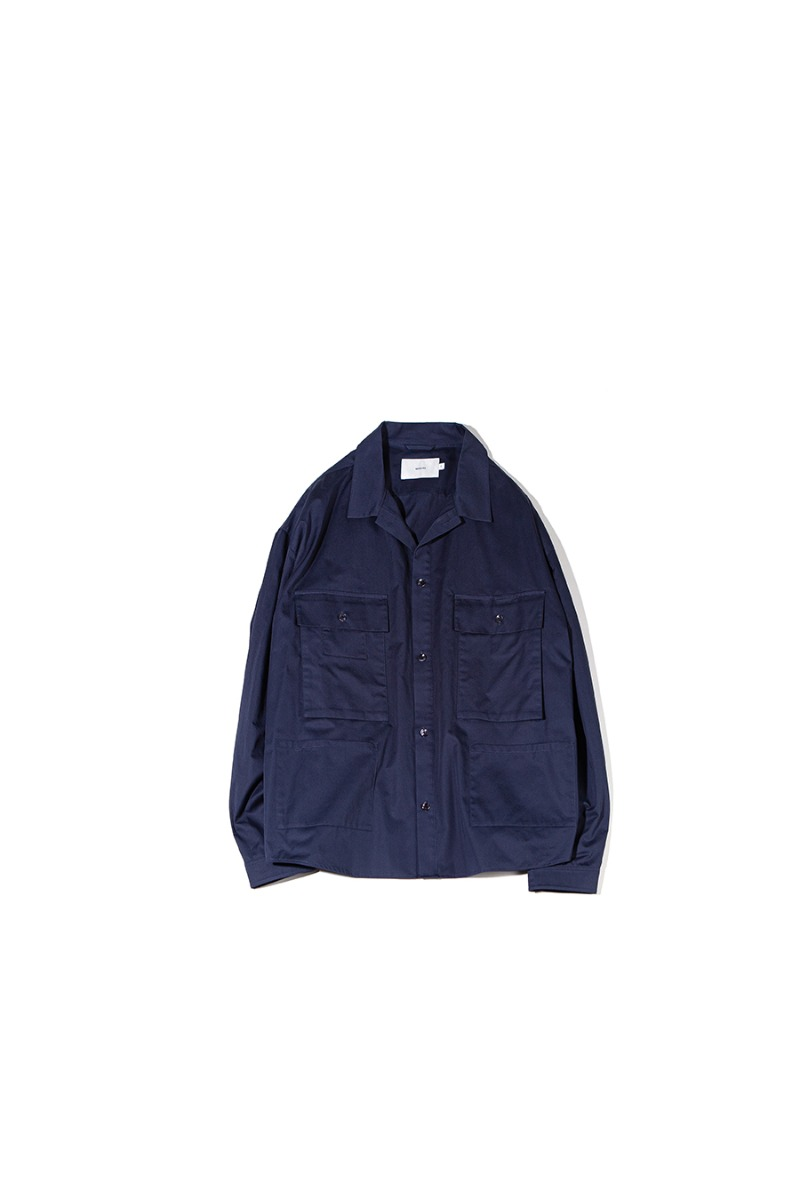 SATIN COTTON B.D.U SHACKET (navy)